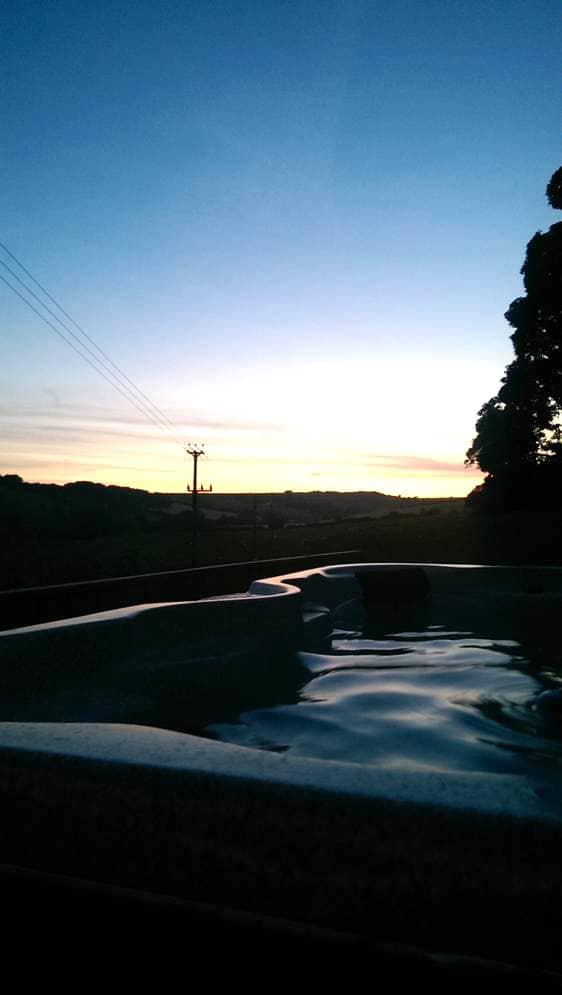 hot tub overlook sunset